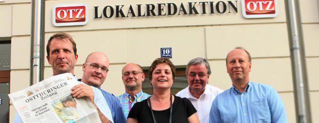 Die Jury mit Jörg Hierold, Patrick Weisheit, Thomas Roth, Katja Grieser, Peter Kniebel und Thomas Schäfer(von links) hat die fünf Finalisten ausgewählt. Foto: Tobias Schubert